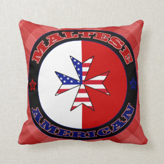 Almofada Coxim transversal americano maltês da bandeira
