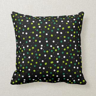 Almofada Coxim verde colorido dos pontos dos círculos da