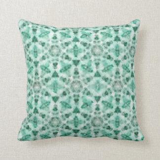 """Almofada Coxim verde com pintura geométrica da aguarela """""""