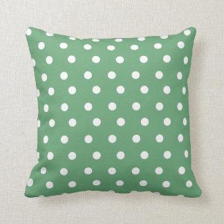 Almofada Coxim verde do descanso de lance das bolinhas