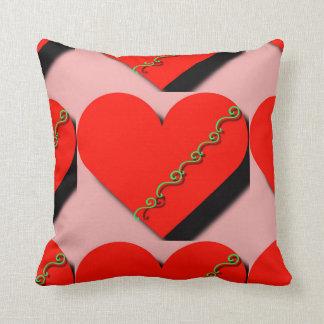 Almofada Coxim vermelho lindo do design do coração