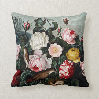 Almofada Coxins botânicos dos rosas das flores
