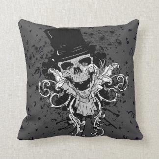 Almofada Crânio assustador com chapéu alto