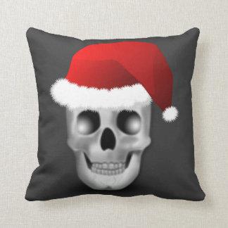 Almofada Crânio Papai Noel do gótico do Natal
