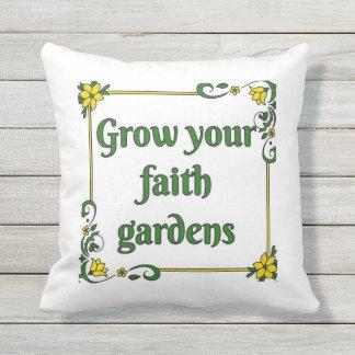 Almofada Cresça seu travesseiro dos jardins da fé
