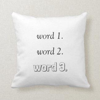 Almofada Criar seu próprio texto inspirado em três palavras
