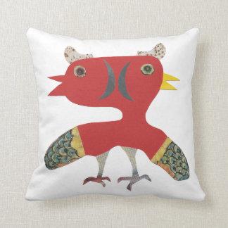 Almofada criatura engraçada do pássaro do gêmeo da fantasia
