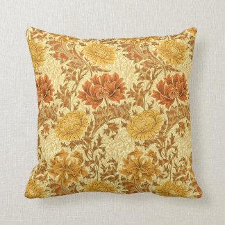 Almofada Crisântemos de William Morris, ouro da mostarda