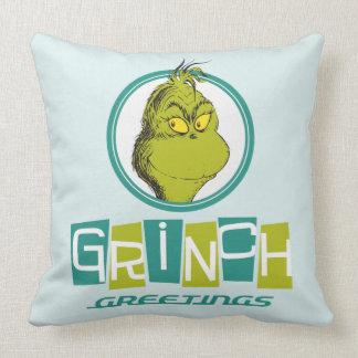 Almofada Cumprimentos do Dr. Seuss | Grinch