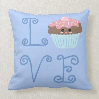 Almofada Cupcake doce colorido feminino bonito do amor de