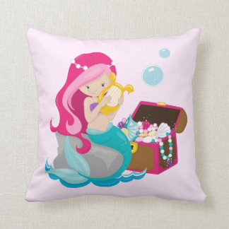 Almofada Cute Mermaid, virgem de mar