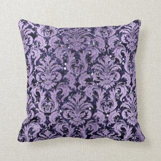 Almofada Da casa de campo violeta azul do marinho do