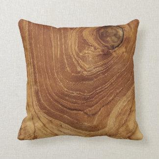 Almofada Da natureza de madeira rústica da grão da teca