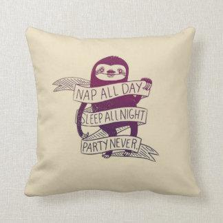 """Almofada Da """"sesta travesseiro engraçado do algodão o dia"""