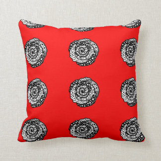 """Almofada Da """"travesseiro decorativo vermelho do algodão dos"""