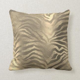 Almofada Da zebra africana do ouro do campo do safari pele