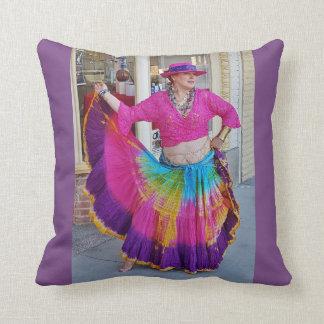 Almofada Dançarino colorido da saia