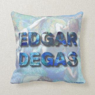 Almofada Dançarinos azuis impressionista franceses de Edgar