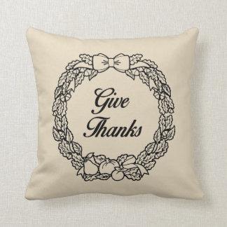 Almofada Dê a obrigados a queda travesseiro decorativo