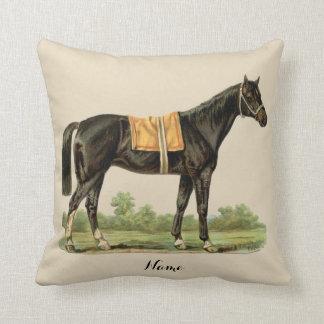 Almofada Decoração da arte do cavalo de Brown escuro