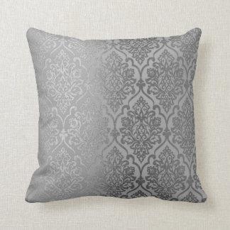 Almofada Decoração luxuosa real do damasco de prata