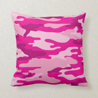Almofada Decoração na moda do quarto da camuflagem do rosa