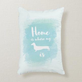 Almofada Decorativa A casa bonito é o lugar onde meu dachshund é