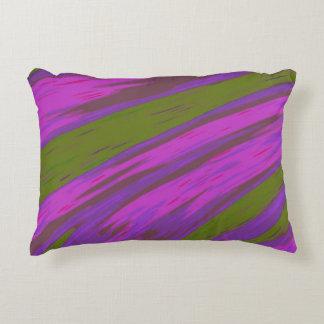 Almofada Decorativa Abstrato moderno da abanada da cor roxa e verde
