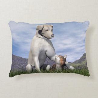 Almofada Decorativa Amizade do cão e gato