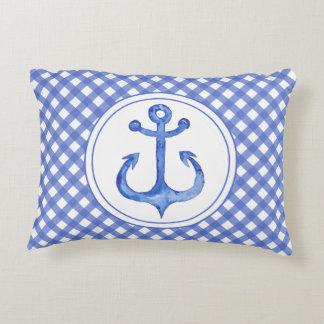 Almofada Decorativa Âncora náutica - travesseiro do acento do guingão