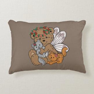 Almofada Decorativa Anjo do urso com gatinhos