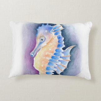 Almofada Decorativa Arte da aguarela do cavalo marinho