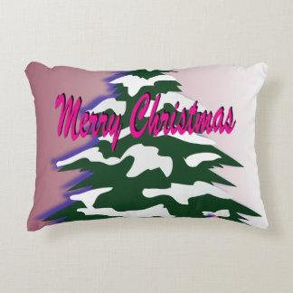 Almofada Decorativa Árvore retro do Feliz Natal