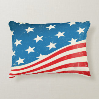 Almofada Decorativa Bandeira americana do vintage