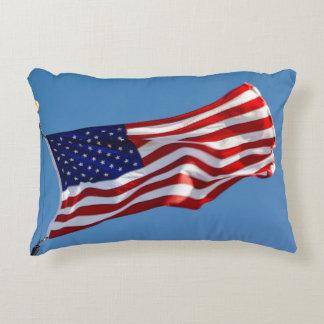 Almofada Decorativa Bandeira americana no vento
