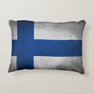 Almofada Decorativa Bandeira de Finlandia - travesseiro