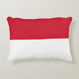 Almofada Decorativa Bandeira de Monaco