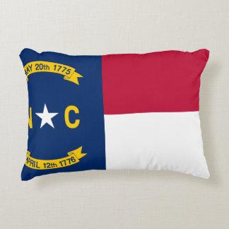 Almofada Decorativa Bandeira de North Carolina
