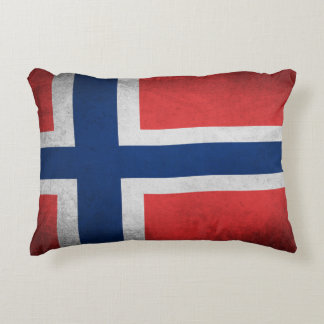 Almofada Decorativa Bandeira de Noruega - travesseiro