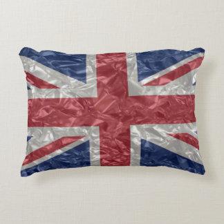 Almofada Decorativa Bandeira de Union Jack - enrugada