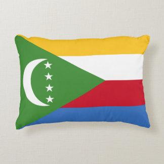 Almofada Decorativa Bandeira nacional do mundo de Cômoros