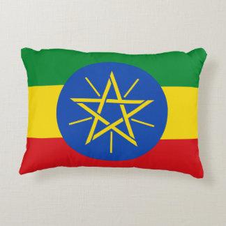 Almofada Decorativa Bandeira nacional do mundo de Etiópia