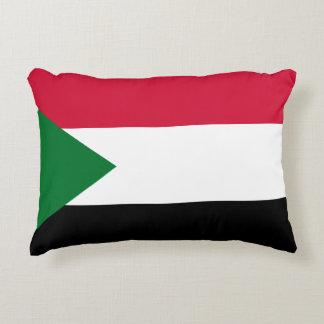 Almofada Decorativa Bandeira nacional do mundo de Sudão