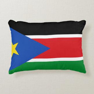 Almofada Decorativa Bandeira nacional sul do mundo de Sudão