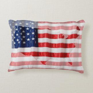 Almofada Decorativa Bandeira Travesseiro-Americana