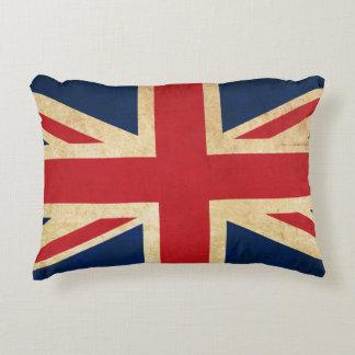 Almofada Decorativa Bandeira velha Union Jack de Reino Unido do Grunge