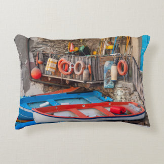 Almofada Decorativa Barcos em Cinque Terre Italia