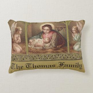 Almofada Decorativa Bebê personalizado Jesus da natividade do Natal