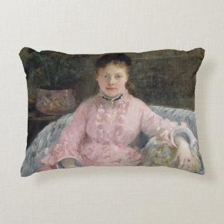 Almofada Decorativa Berthe Morisot - o vestido cor-de-rosa