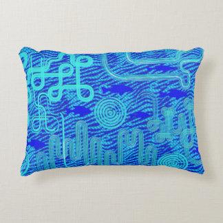 Almofada Decorativa Blue circles and lines
